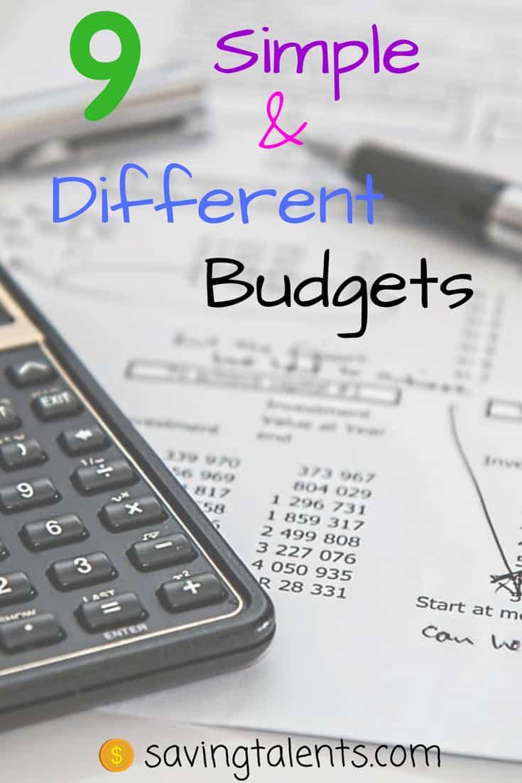 9 simple budgets saving talents