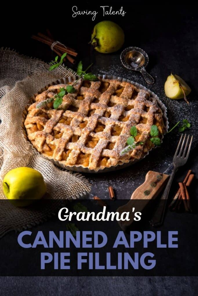 canned apple pie filling