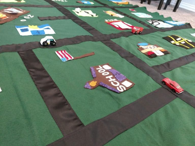 DIY No-Sew Felt Play Car Mat You Can Customize!