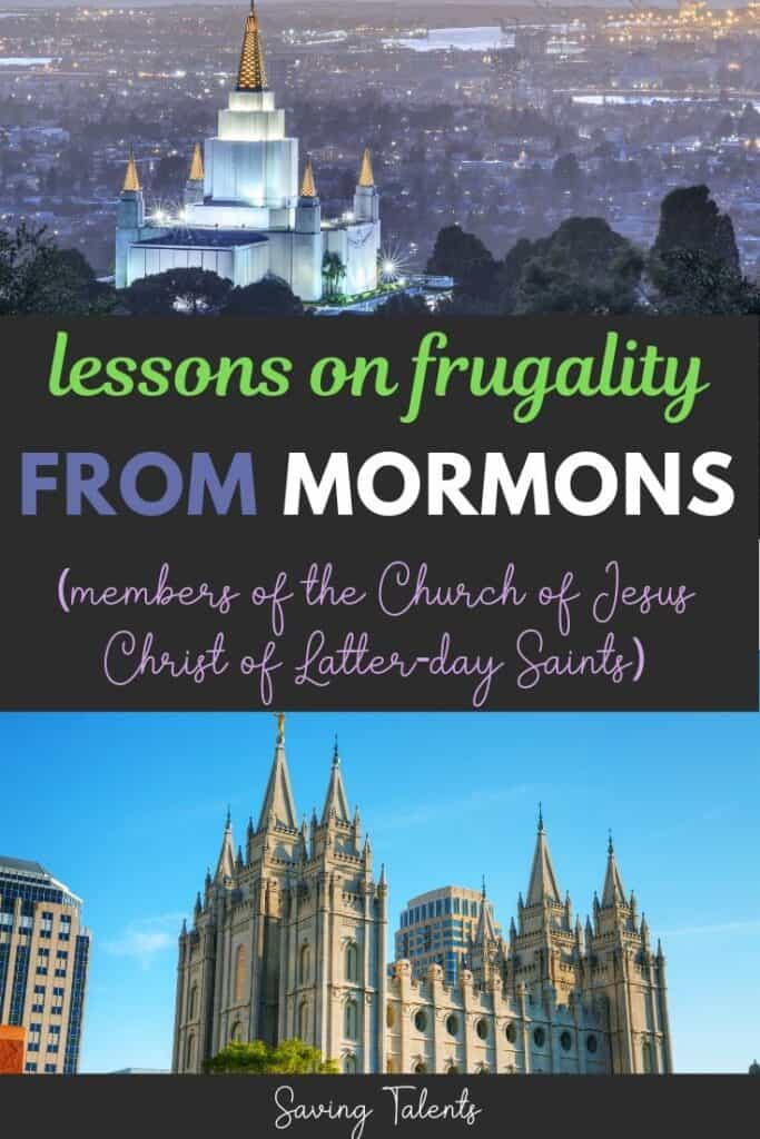 lessons on frugality from Mormons