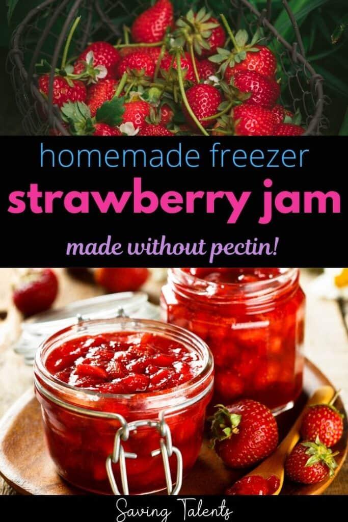 homemade strawberry freezer jam