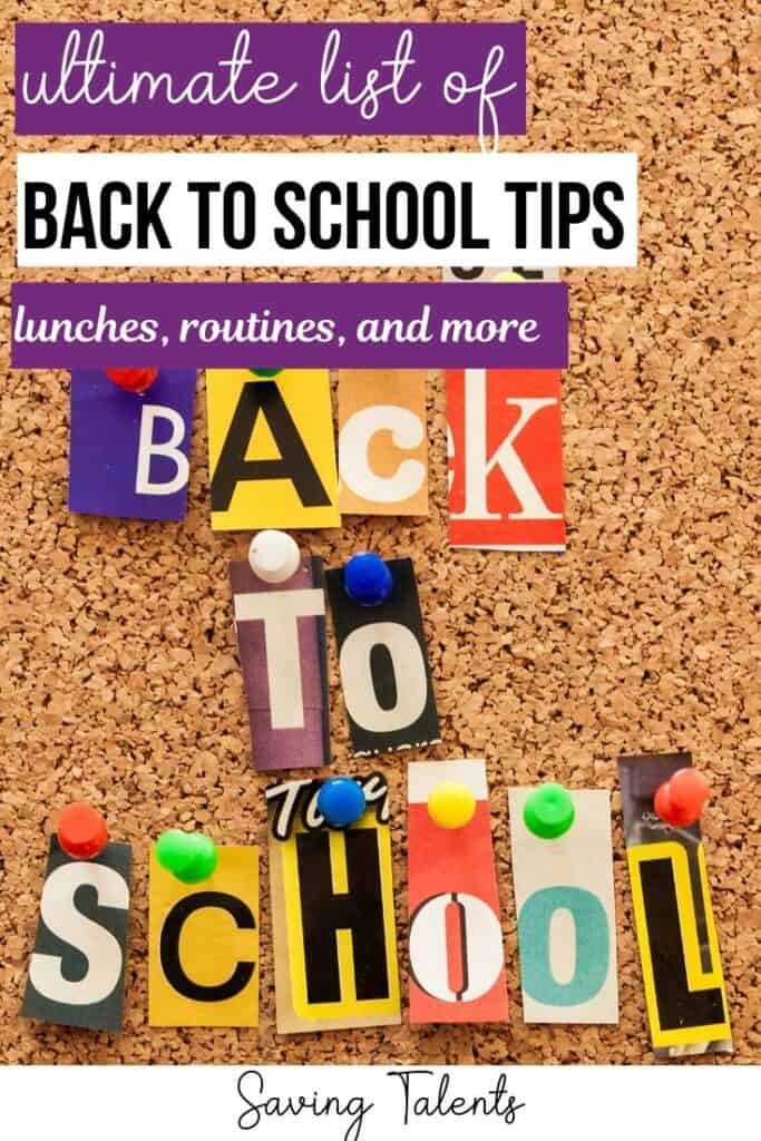 Ultimate List of Back-to-School Tips:  Snacks & Lunches, Crafts, Routines, & More!