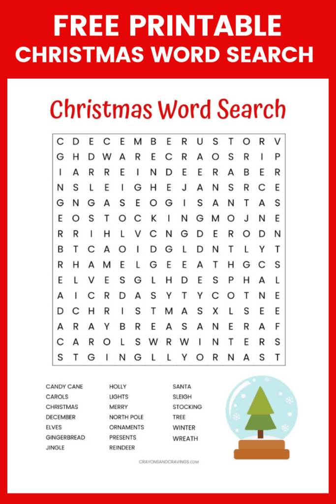 image relating to Printable Christmas Word Games known as 9 No cost Informative Xmas Do it yourself Printables Online games for Children