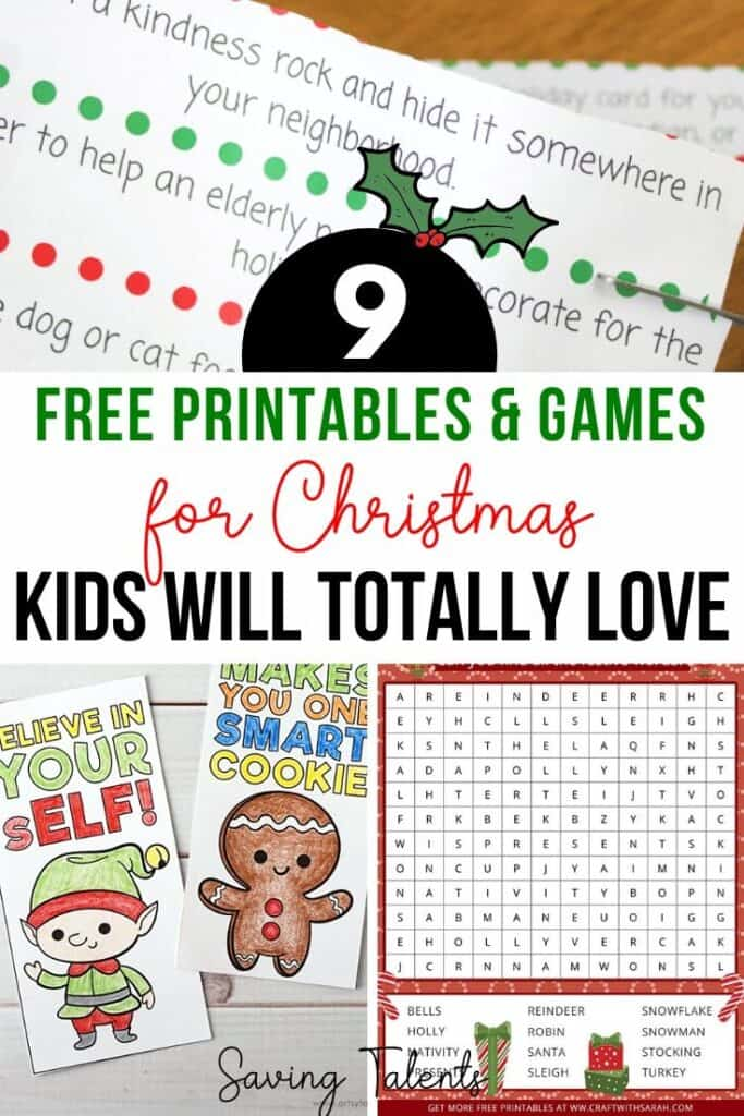 Free Educational Christmas Printables & Games for Kids