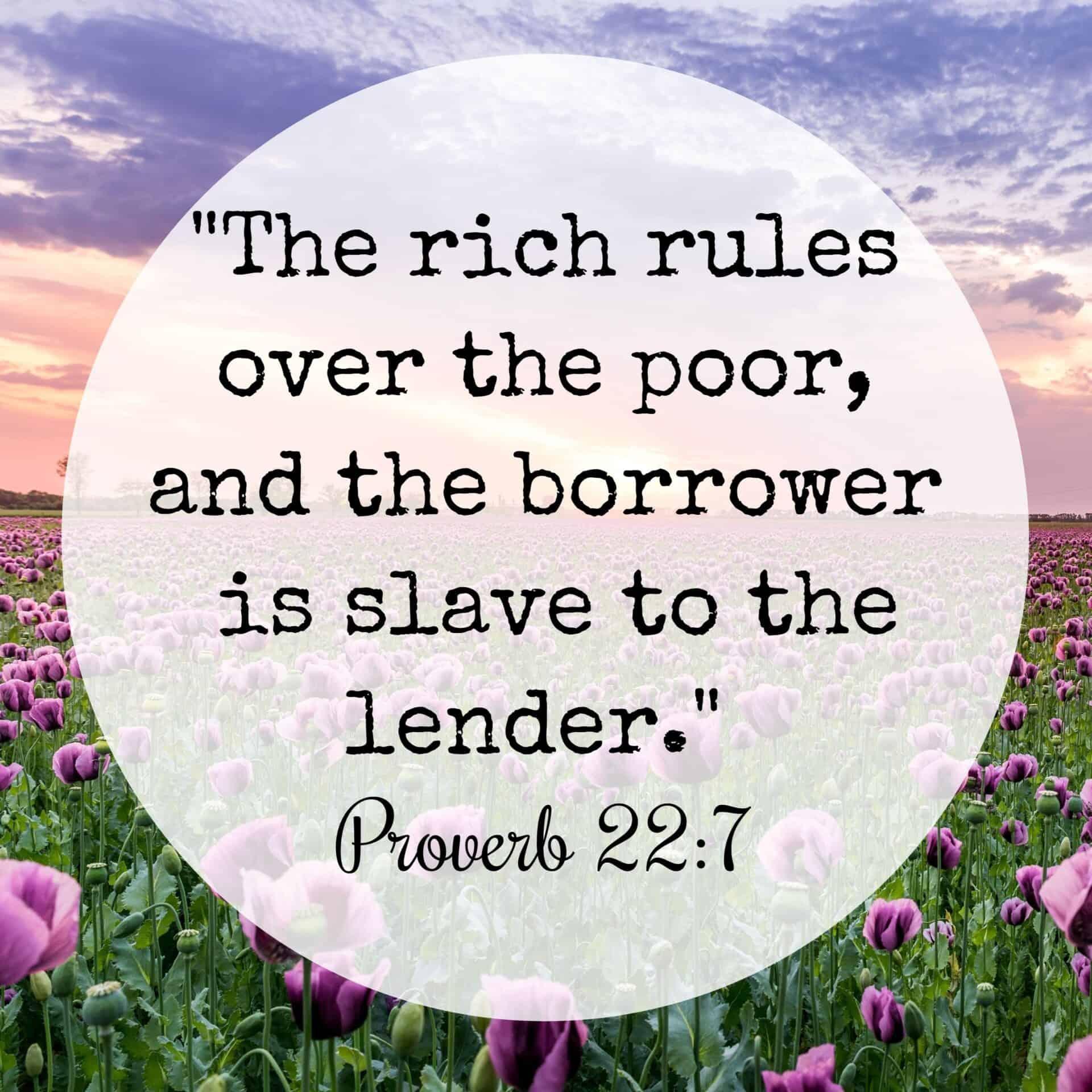 bible verses debt