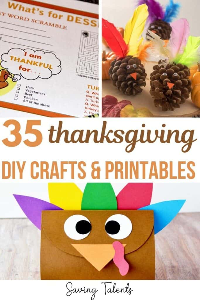 15 Thanksgiving DIY Crafts and Printables for Kids