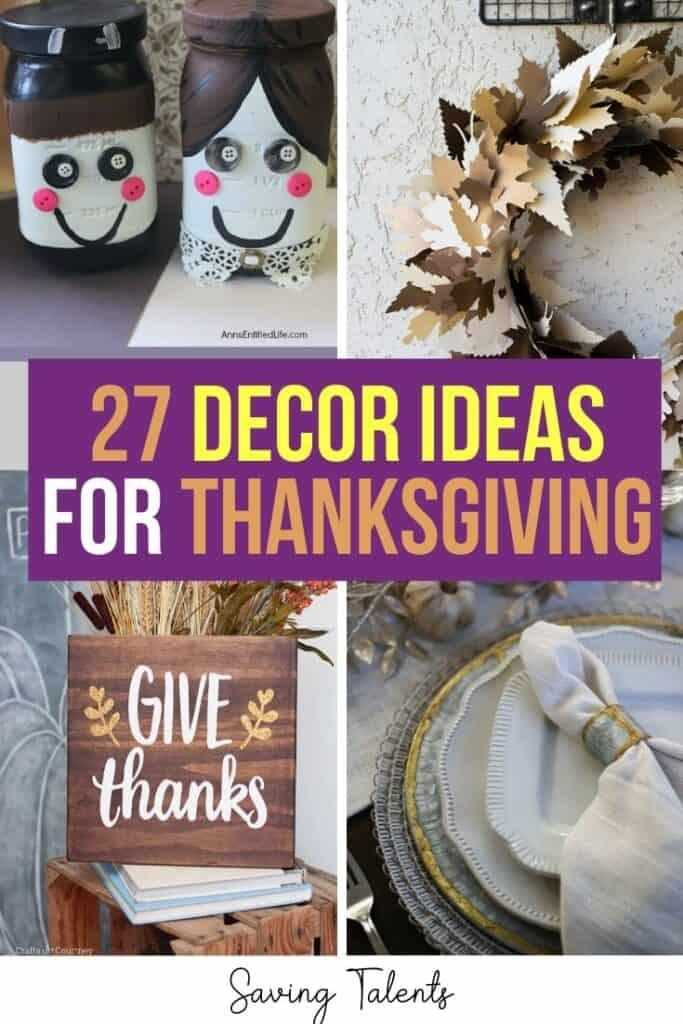 27 Thanksgiving Decoration Ideas