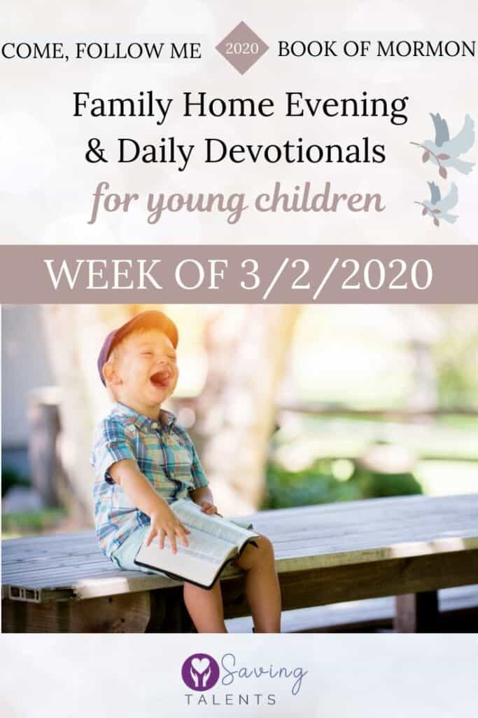Come Follow Me 1/6/2020 – Devotionals & FHE for Children