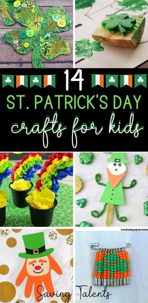 Saint Patricks Day kids crafts