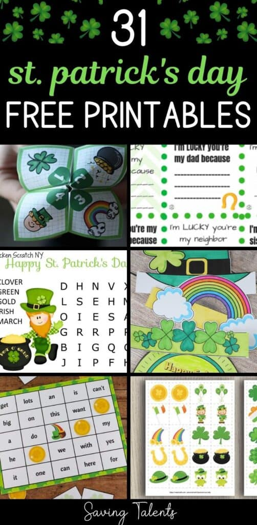 31 FREE St. Patrick's Day Printables