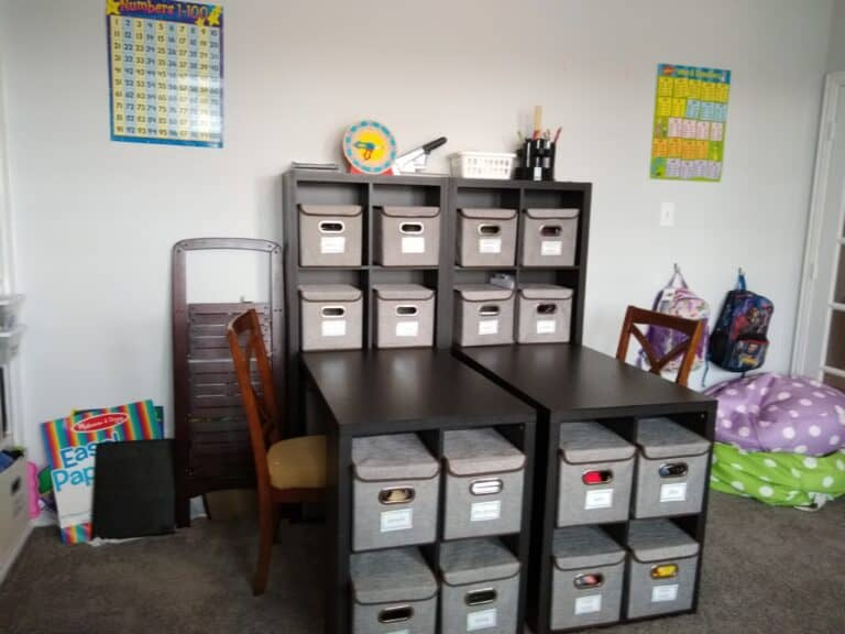 How to Organize a Homeschool Room
