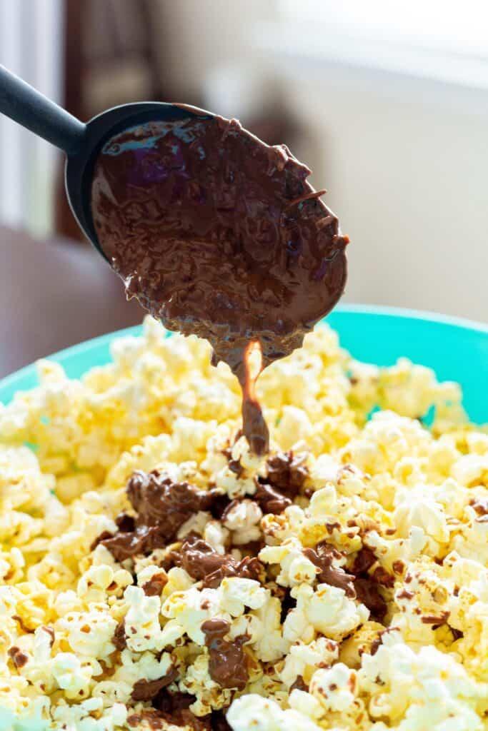 Coconut Nutella Popcorn