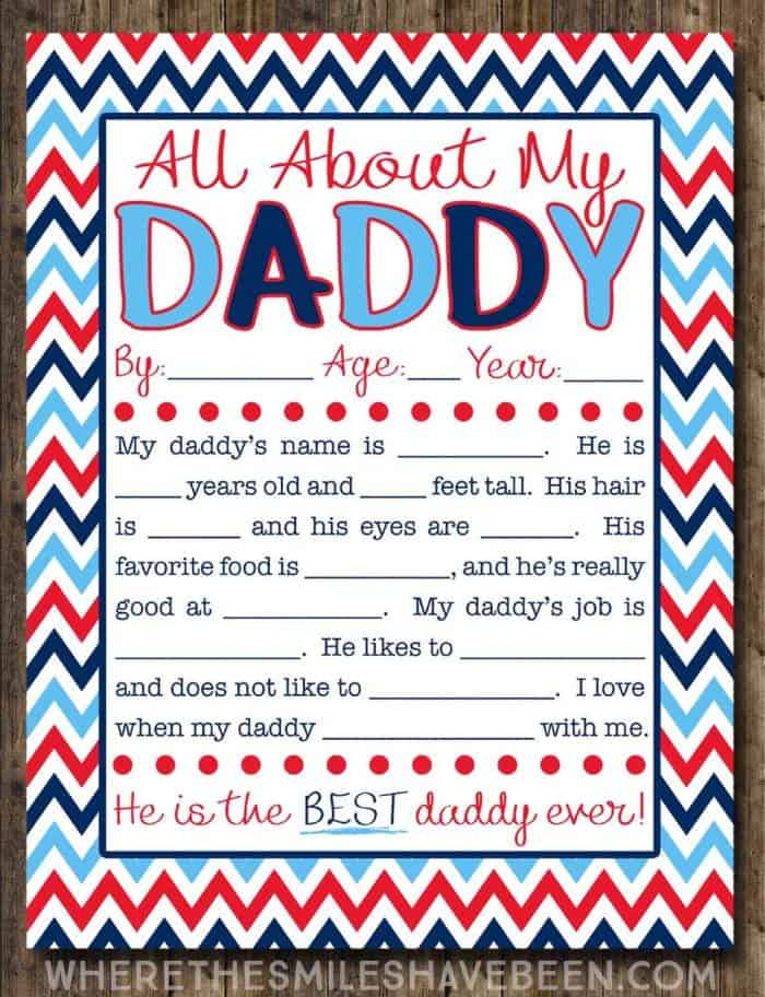 Free Fathers Day Printables for Kids