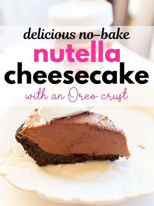 no backe nutella cheesecake – story