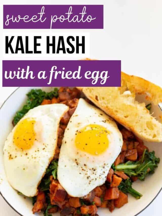 sweet potato kale hash – story