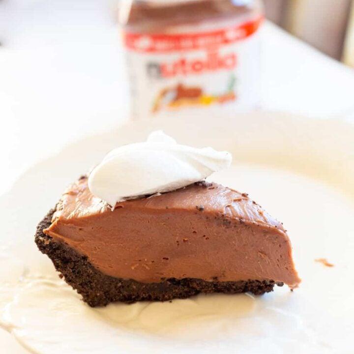 No Bake Nutella Cheesecake with Oreo Crust