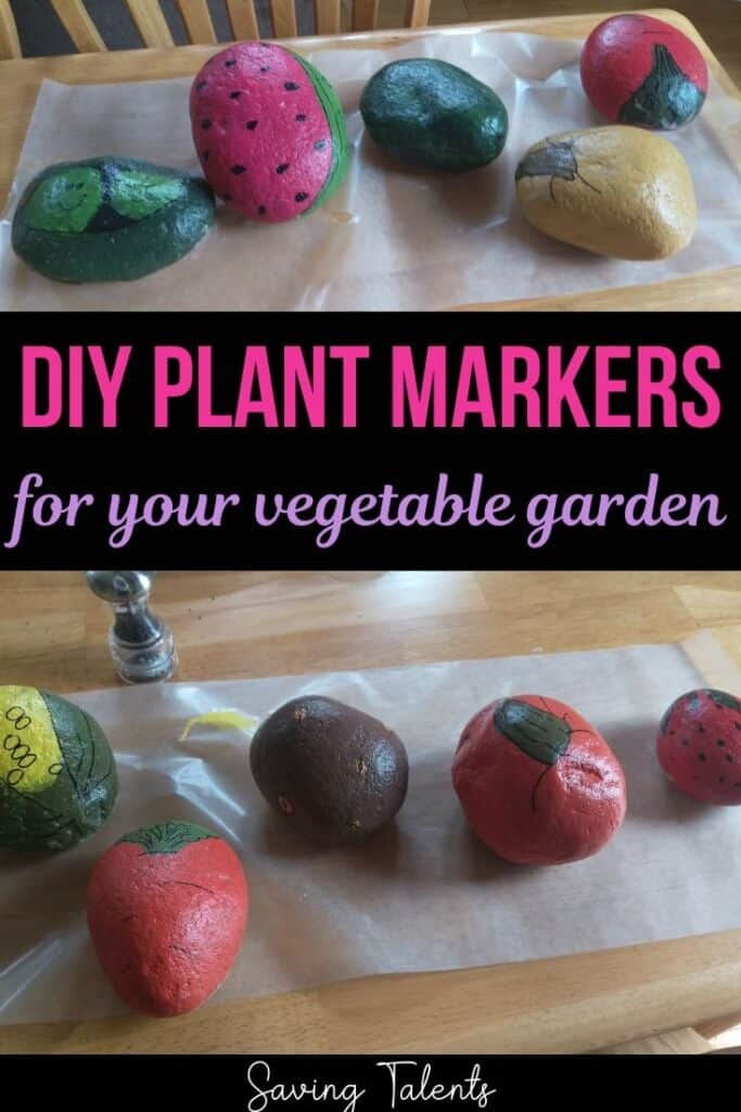 DIY Garden Rocks to Label Outdoor Plants