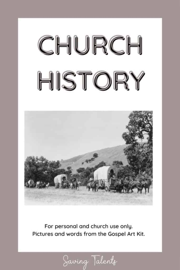 free printable quiet books for church - church history