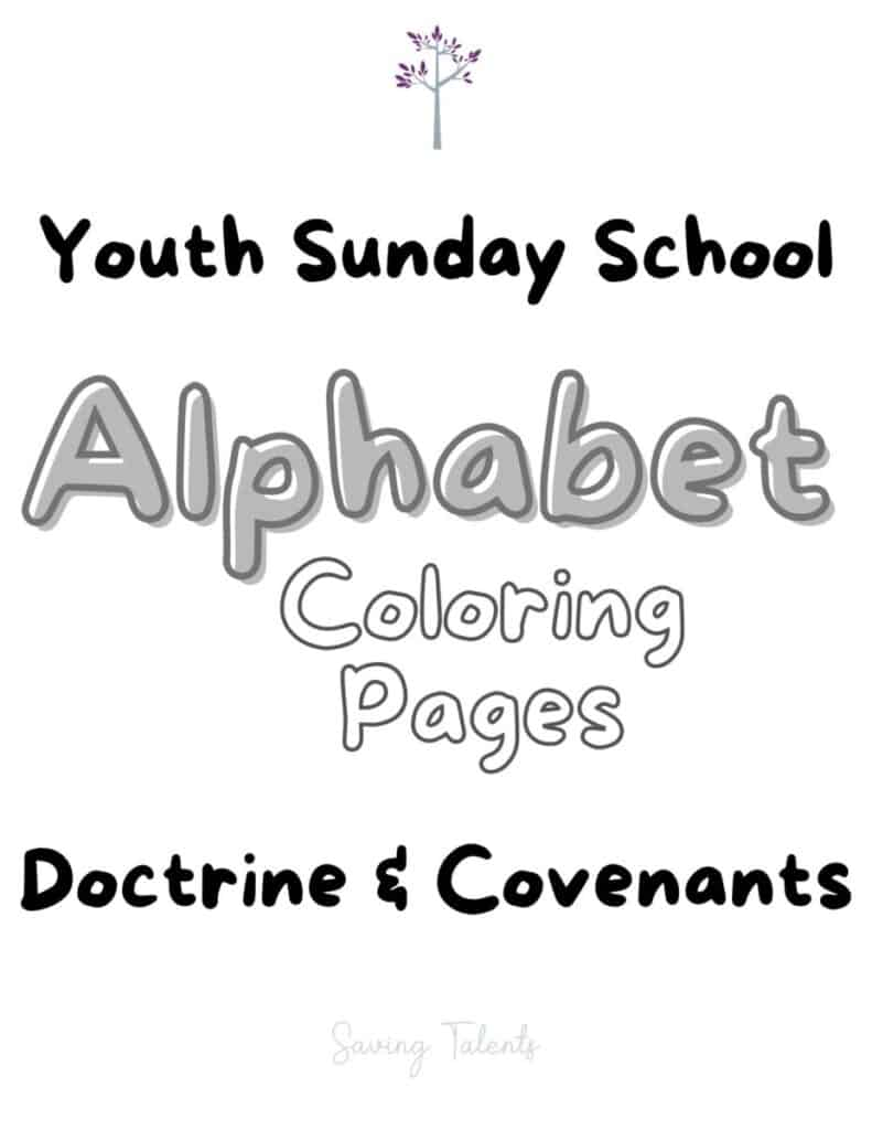 youth sunday school coloring pages doctrine and covenants cover sheet