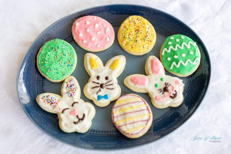 Easter Sour Cream Sugar Cookies with Cream Cheese Frosting
