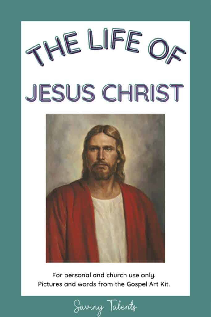 free printable quiet books for church - life of Christ