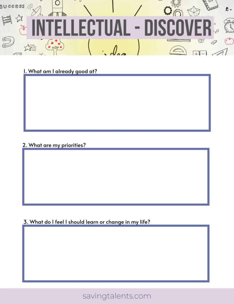 page from Free Christian Personal Development Workbook
