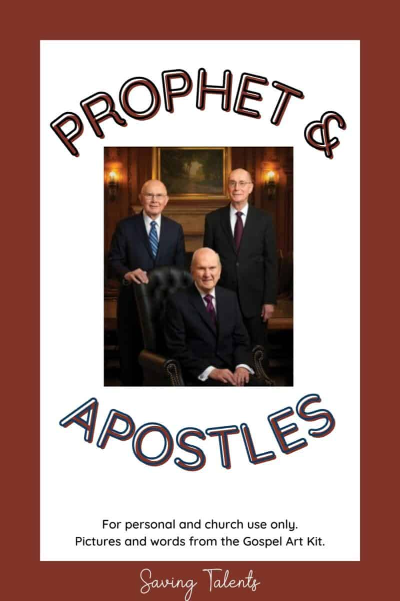 free printable quiet books for church - prophet and apostles
