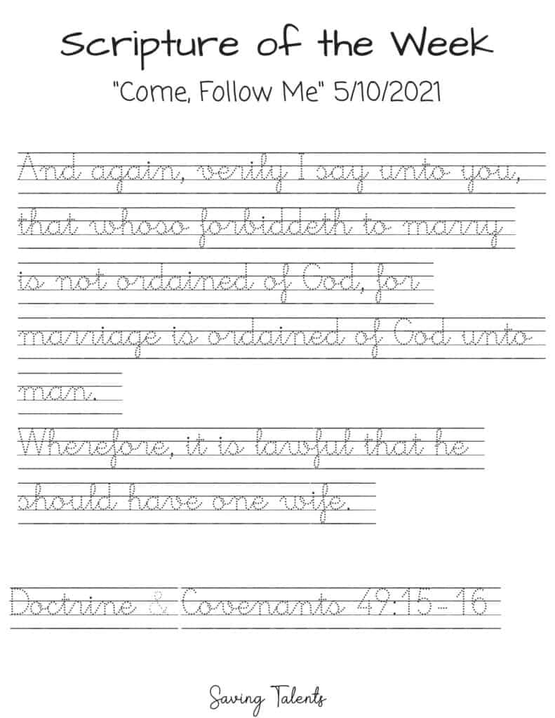 come follow me 5/10 handwriting tracing for kids
