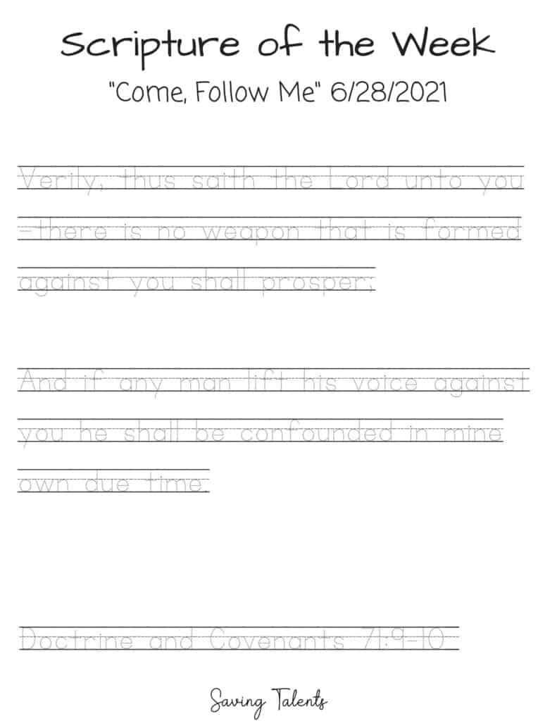 come follow me tracing sheet print
