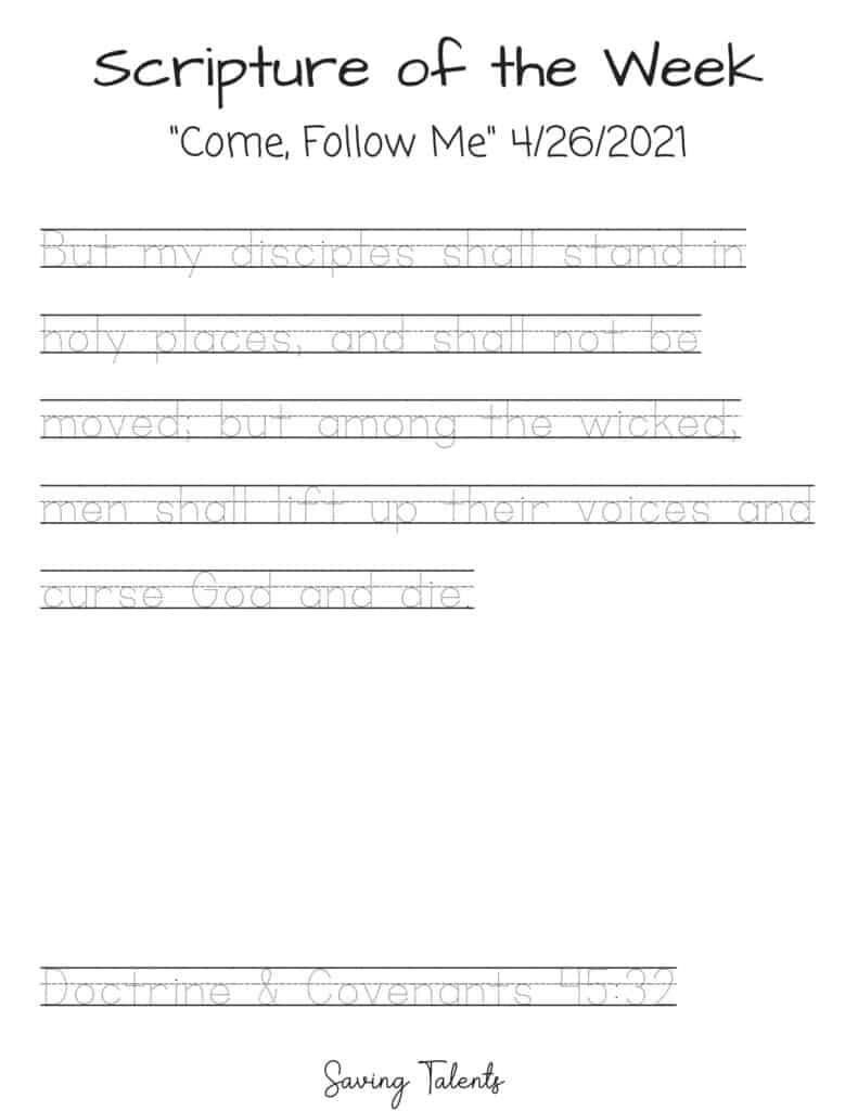 come follow me 4/26