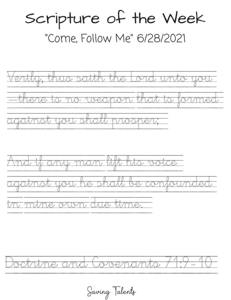 come follow me tracing sheet cursive