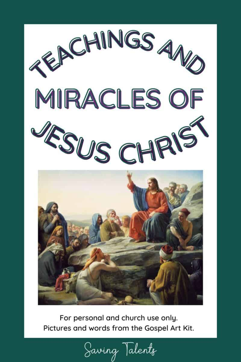 free printable quiet book for church - Christ's teachings and miracles