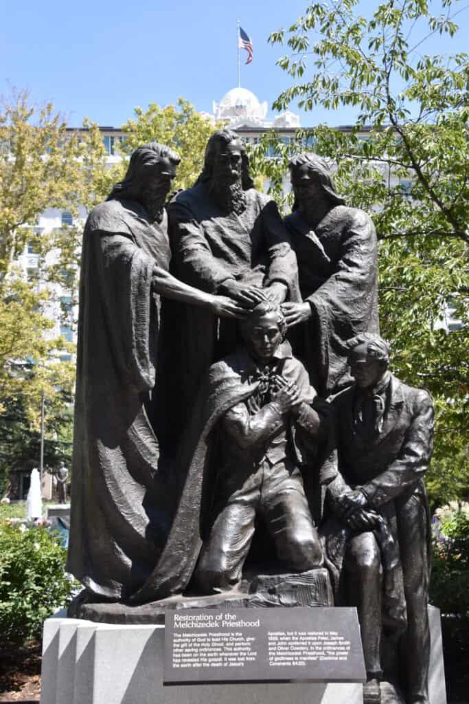 Joseph Smith receiving the priesthood