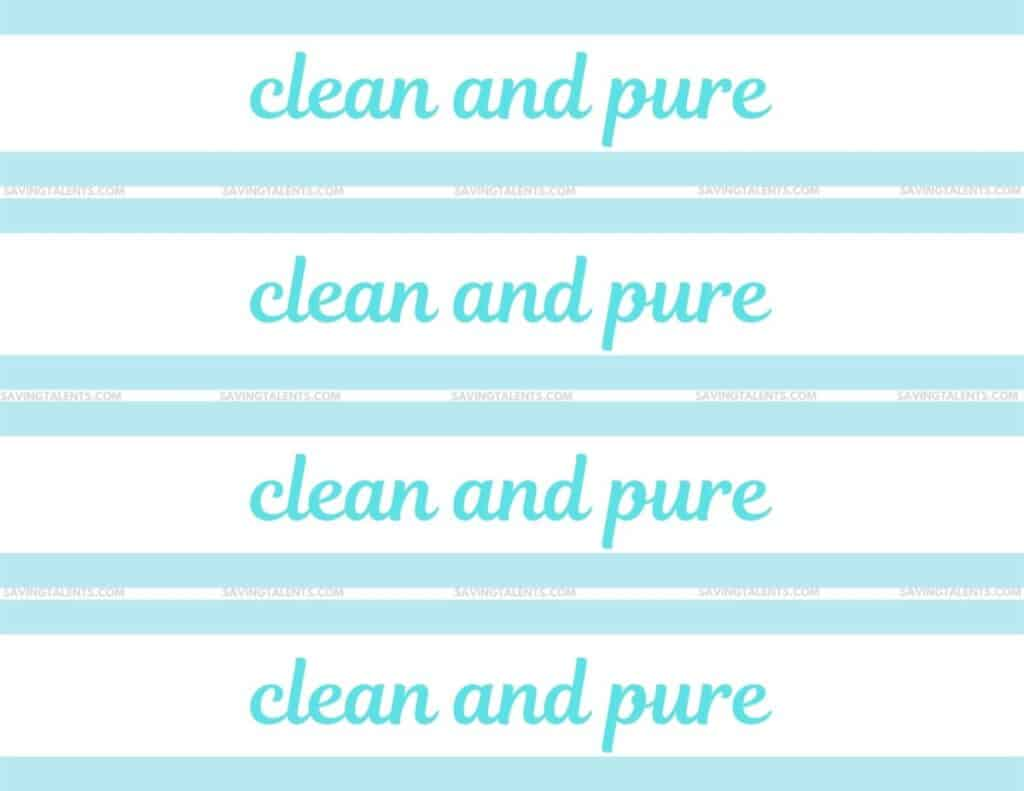 water bottle Free Printables for Baptism Treats