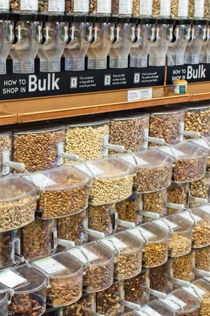 eat healthy on a budget by buying in bulk