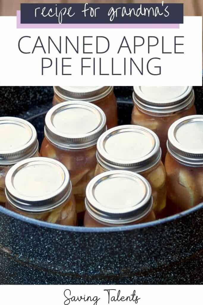 Grandma's Canned Apple Pie Filling