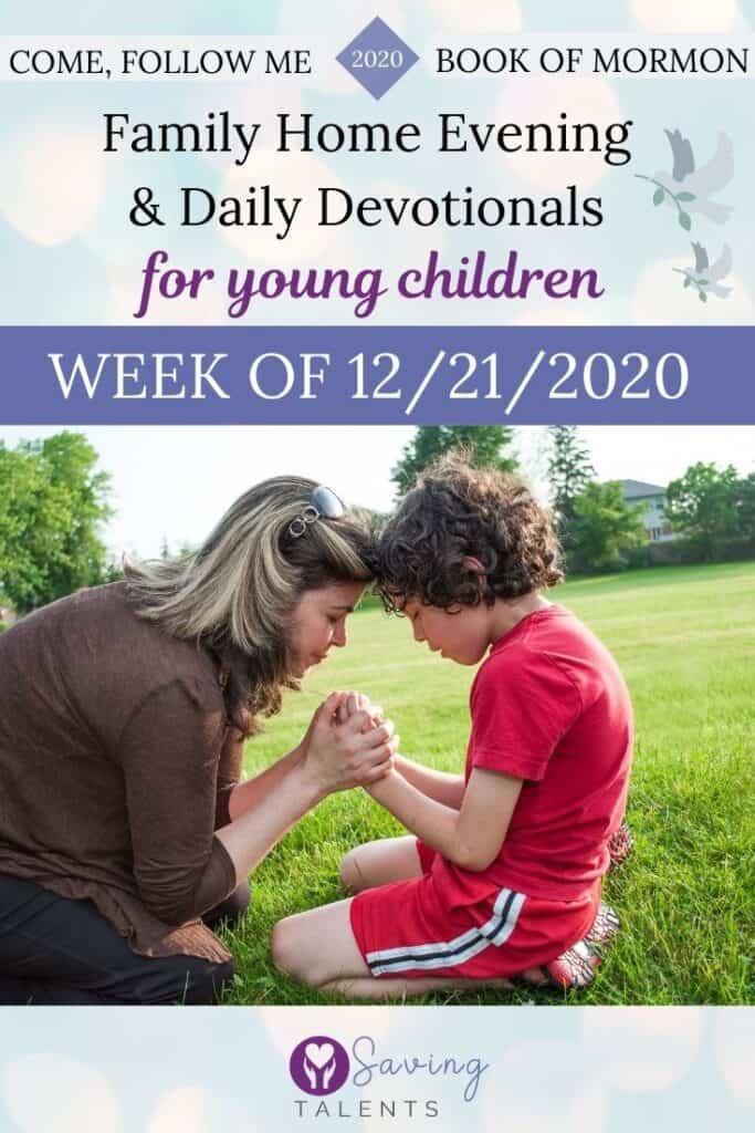 Come Follow Me 12/14/2020 - Devotionals & FHE for Kids