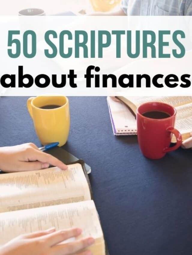 scriptures about finances – story