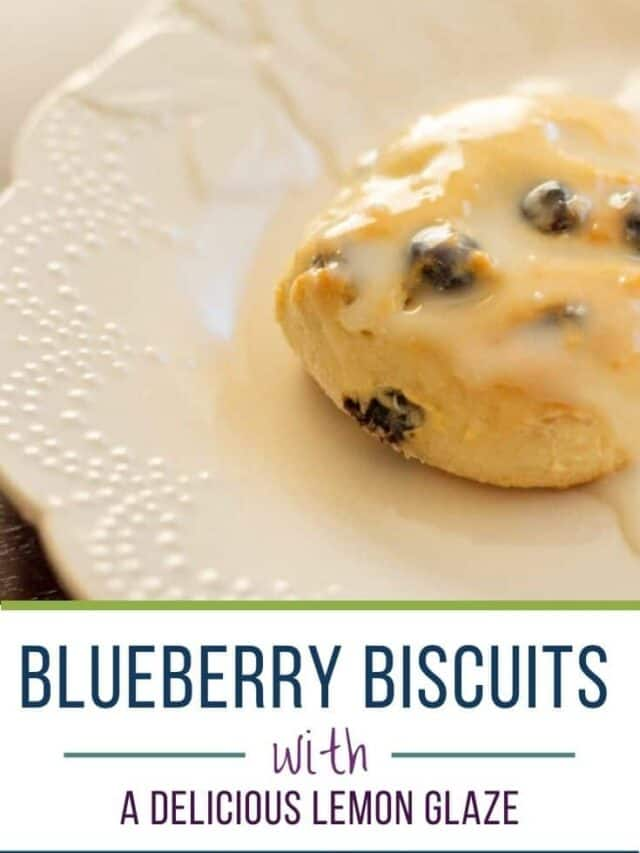 Blueberry biscuit with lemon glaze – story
