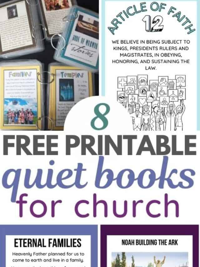 Free Quiet Book Printables for Church  – Story 2 (Copy)