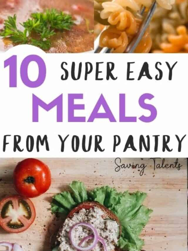 easy pantry stockpiles meals – story