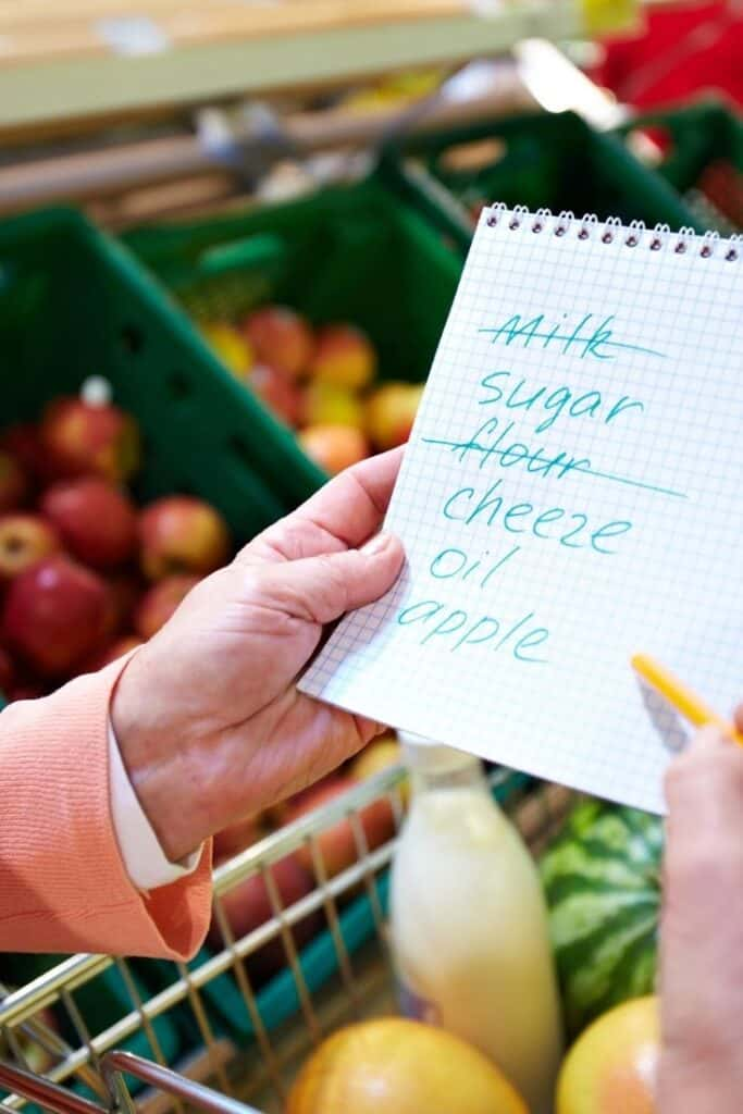 eat healthy on a budget with a grocery list