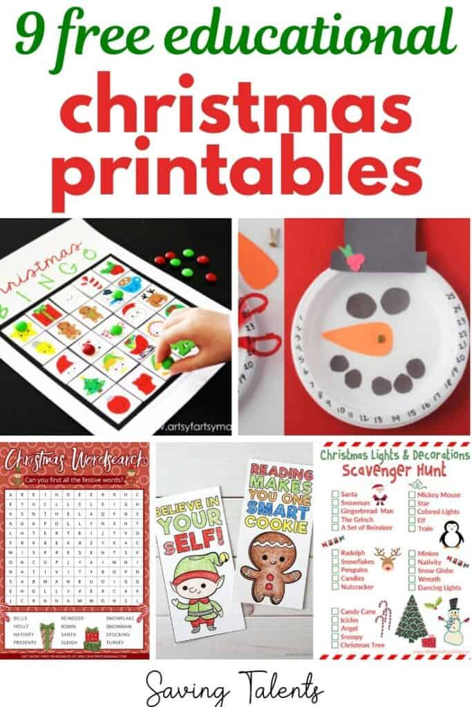 9 Free Christmas Printables & Games for Kids