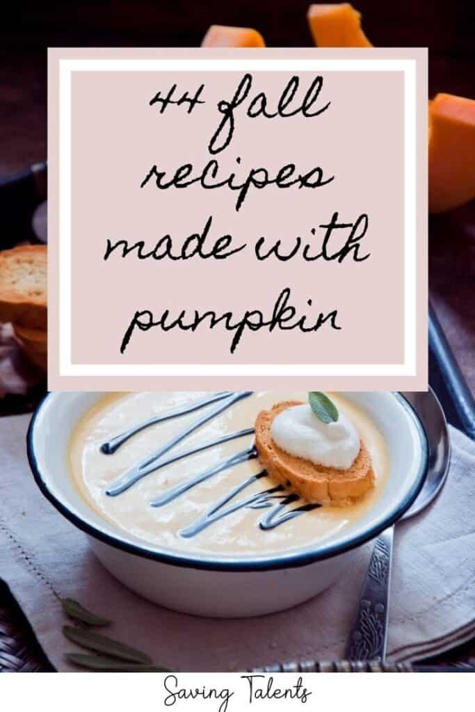 44 Unique Fall Pumpkin Recipes