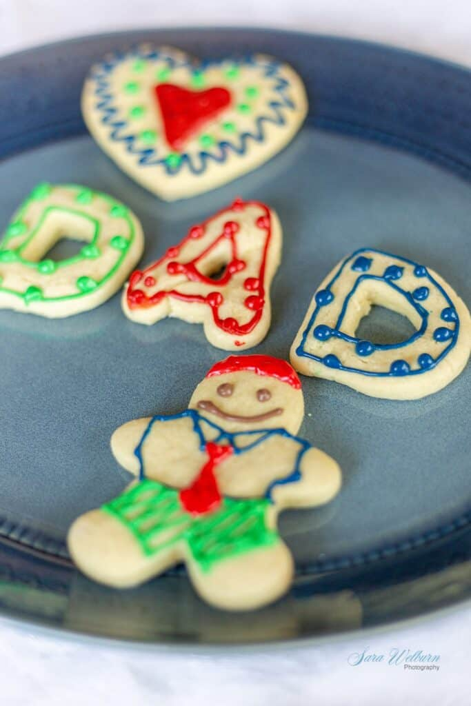Fathers Day Sour Cream Sugar Cookies with Cream Cheese Frosting