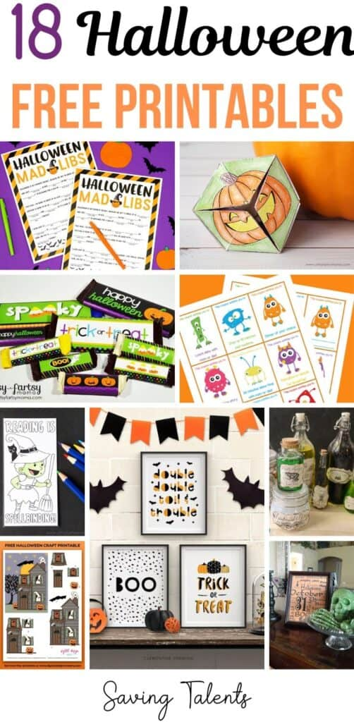 18 Fun and Free Halloween Printables