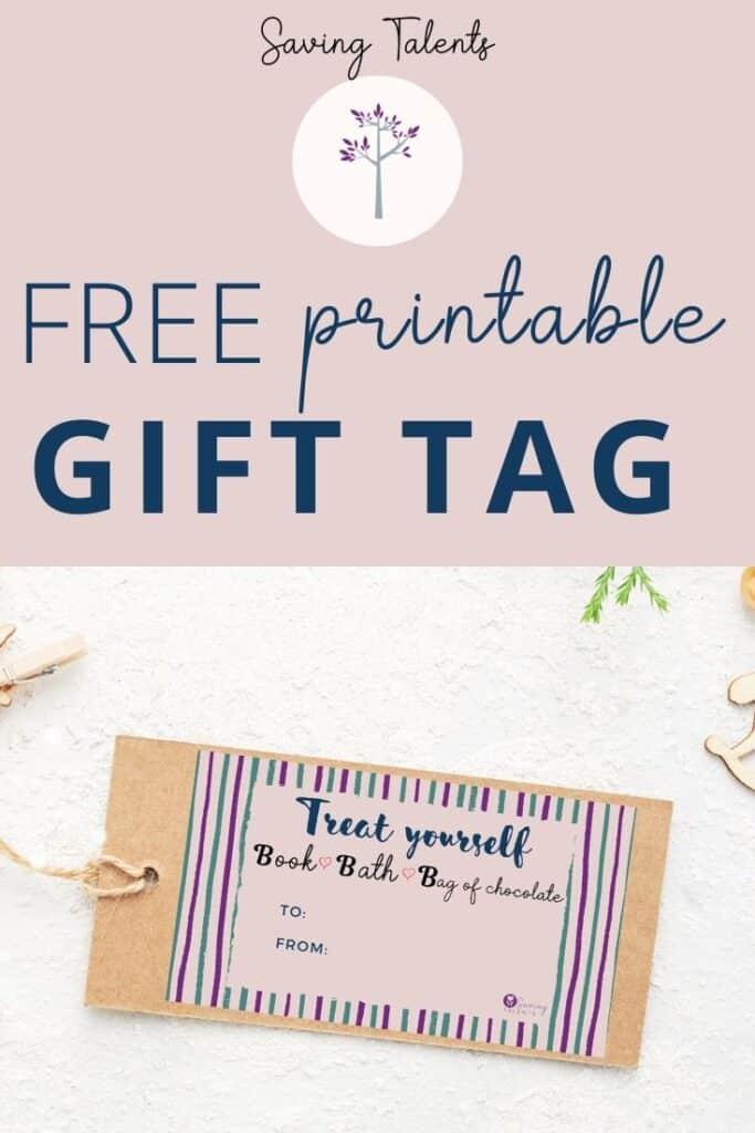 "FREE Printable Gift Tag - ""Treat Yourself"""