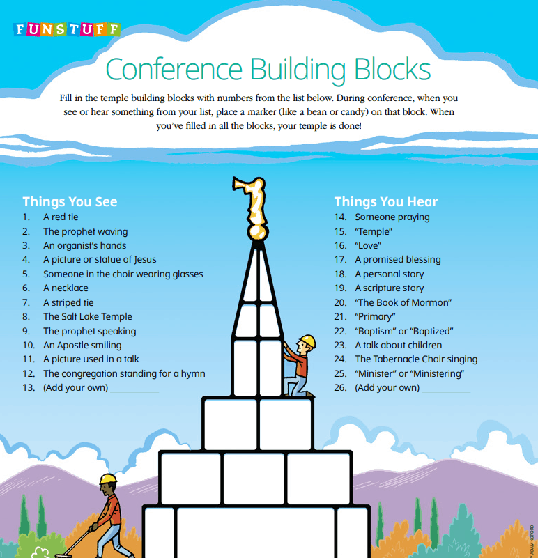 General Conference Activity Ideas for Kids