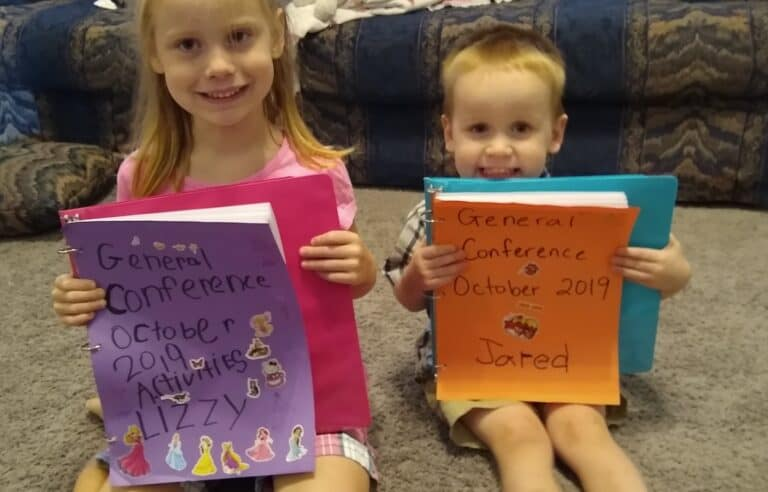 30+ General Conference Activity Ideas for Kids & Preschoolers