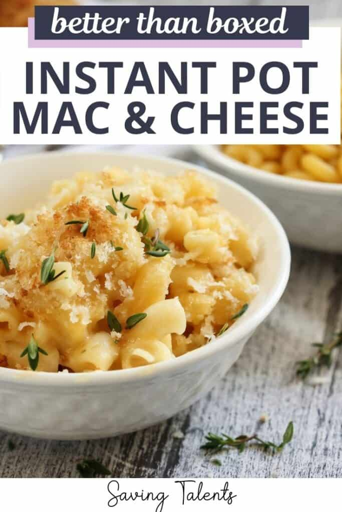 Instant Pot Macaroni and Cheese - Easier Than Boxed!